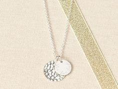 e789e1ed2b99 Our Personalised Large Hammered Necklace compliments any style.Created for  our 10th Anniversary!A