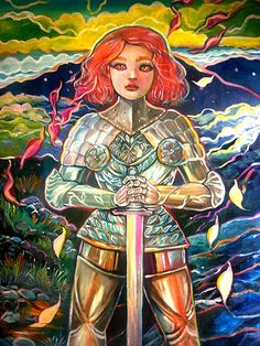 Knight 18″x24″ Acrylics and Oils Stretched Canvas —