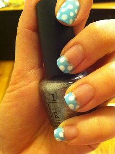 Cute Polka Dot Nail - Inspired Nails - Sign up for the @NailArtSociety for $9.95/mo. We will curate n deliver the latest tools,polishes accessories for u to try out the newest nail art trends at home!