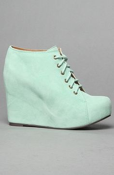 The 99 Tie Shoe in Mint Suede by Jeffrey Campbell Shoes | Karmaloop.com - Global Concrete Culture - StyleSays