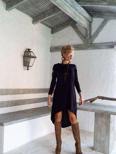 Black Asymmetric Dress - Blouse - Tunic / Black Dress / Asymmetric Plus Size Dress / Short Front Long Back Dress / #35025 by SynthiaCouture on Etsy https://www.etsy.com/uk/listing/206165593/black-asymmetric-dress-blouse-tunic