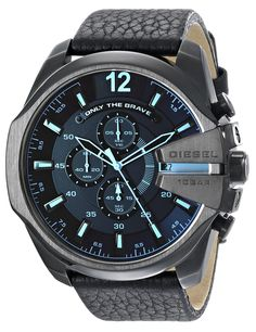 Diesel Men's Diesel Chief Series Analog Display Analog Quartz Black Watch