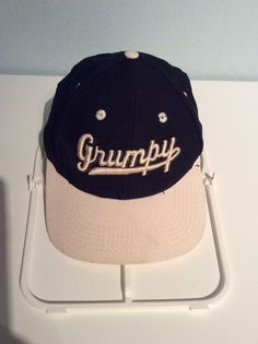 bb100142f2a grumpy disney vintage  80s snapback hat from  9.99