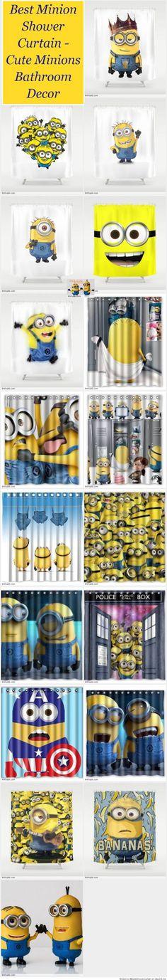Best Minion Shower Curtain - Cute Minions Bathroom Decor