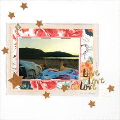 Layout - Love Love Love von Nikki Kehr Nimena #scrapbooking #scrapbook #scrapbooklayout
