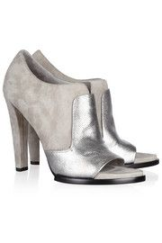 Alexander WangLuisa suede and lizard-effect leather ankle boots
