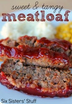 Sweet and Tangy Meatloaf Recipe | Six Sisters' Stuff - I want to try this glaze on my meatloaf recipe.  Ketchup, brown sugar and apricot preserves.  Ground Beef