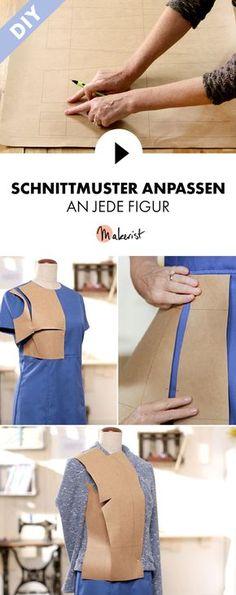 Schnittmuster an die Figur anpassen - Schritt für Schritt erklärt im Video-Kurs via Makerist.de