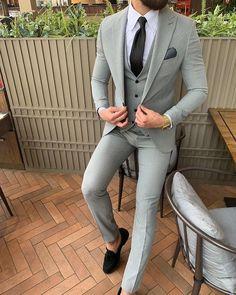 Compre Longo Azul Marinho Casacos Casaco De Manhã Casaco De Casamento Ternos Para Homens Blazer Masculino Terno Fino Fit Com Calças Listradas Partido
