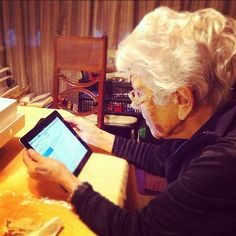 We got grandma an iPad for passover, she immediately goes to her email to pull up Jewish jokes