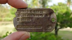 Fallen US WWII Hero's Army Dog Tag Found on Pacific Island #World #iNewsPhoto