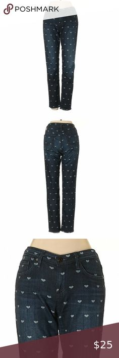 I just added this listing on Poshmark: AG Adriano Goldschmied Cute Heart Print Blue Jeans. Cropped Skinny Jeans, Slim Jeans, Tomboy Jeans, Adriano Goldschmied Jeans, Jeans For Sale, Heart Print, Blue Fashion, Super Skinny, Ankle