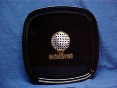 Couroc-Serving-Tray-Golf-Ball-Black-Laquer-Mid-Century-8-5-Inlaid-Gold-Grass