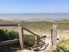 L'escalier en bois amenant à la plage sauvage de Cricqueboeuf.