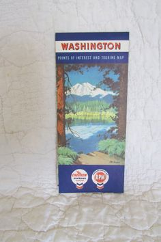 Vintage Washington Map 1959 by Chevron by rarefinds4u on Etsy