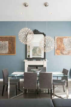 P_House - Picture gallery Carlomagno, dining table, stainless steel and glass