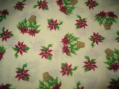 Christmas Fabric/Cotton/Pointsettas  http://www.ebay.com/itm/Christmas-Fabric-Cotton-Pointsettas/181263944793?rt=nc#ht_109wt_912