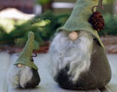 Christmas Gift HADMAR the Silent Woodland Gnome di TheGnomeMakers