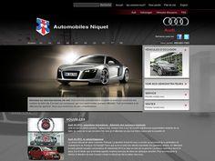 Automobiles Niquet. Création d'Axial. Audi, Automobile, Portfolio Website Design, Commerce, Web Development, Digital Marketing, Motor Car, Autos, Cars