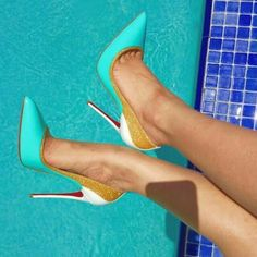 Inspiration: Multi Coloured High Heel Shoes