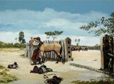 "CM - ""ARA VAI"" Gaucho, Wild West, Camel, Horses, Cartoon, Animals, Painting, Folklore, Animated Cartoons"