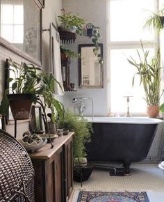 20 böhmische Badezimmerideen 20 Bohemian Bathroom Ideas The bohemian look should not be limited to large rooms such as bedrooms and living rooms. It is still possible to have a bohemian bathroom … BATHROOM Bad Styling, Bohemian Bathroom, Eclectic Bathroom, Modern Bathroom, Minimalist Bathroom, Seashell Bathroom, Natural Bathroom, Mosaic Bathroom, Bathroom Black