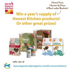 AWESOME GIVEAWAY! Win a year's supply of free pet food from The Honest Kitchen. Enter now at http://www.dogsnaturallymagazine.com/the-honest-kitchen/