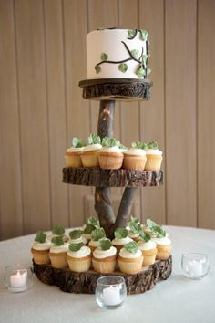 Easy cupcake decor idea- mint leaves! Unless, of course, that totally clashes with the flavor....