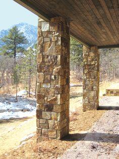 Sebastian stone columns. Natural Stone Veneer, Natural Stones, Masonry Veneer, Stone Columns, Natural Materials, Square Feet, Wood, Nature, Airstone