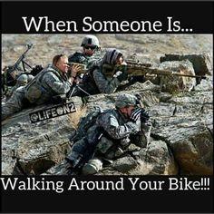 Back away from the ride!! #chopperexchange #bikerhumor