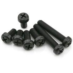 "Suleveâ""¢ M3NH4 M3 Nylon Screw Bolt Black Round Phillips Screw Nut Nylon PCB Standoff Assortment 5-25mm 20pcs"