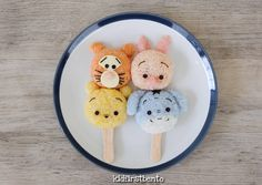 Pooh & friends rice ball popsicles by Kidfirst Bento (@kidfirstbento)