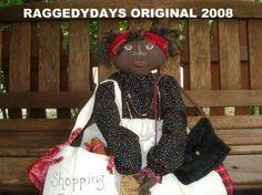 Doll Pattern BLACK Folk Art DOLL PATTERN Geraldine Loves To Shop New