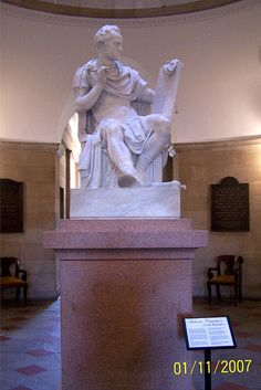 George Washington statue in the State Capitol building, Raleigh, North Carolina (NC).