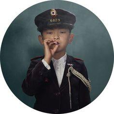 Smoking Kids portraits by photographer Frieke Janssens