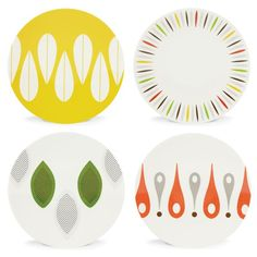 The Burbs 4-piece Party Plate Set by Dansk