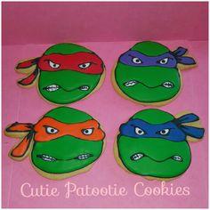 Ninja turtle sugar cookies
