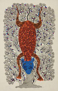 24-Hour Auction: Indian Folk & Tribal Art & Objects - Durga Bai & Subhash Vyam, Untitled