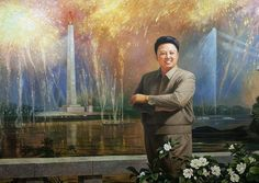 Kim Jong Il.  With exploding fireworks. Really?