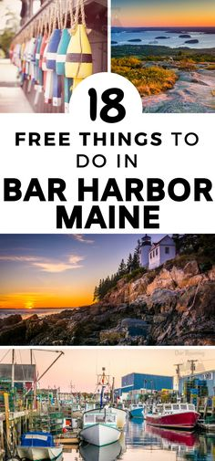 Did you know there are 18 free things to do in Bar Harbor, Maine? This is home to Acadia National Park and a few famous lighthouses! These are just a few of the freebies! East Coast Travel, East Coast Road Trip, Bar Harbor Maine, Boothbay Harbor Maine, Acadia Maine, Acadia National Park, National Parks, Best Places To Travel, Places To Visit