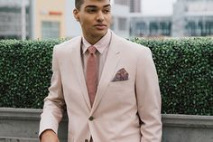 Le 31 Suit from Simons. Pink Suit, Wedding Groom, Classic Style, Suit Jacket, Prom, Blazer, Suits, How To Wear, Jackets