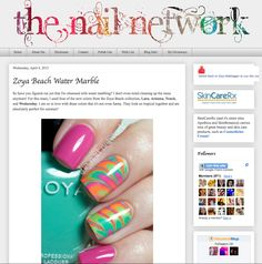 Zoya Nail Polish, Zoya Nail Care Treatments and Zoya Hot Lips Lip Gloss: UPDATE - How To Video: Tropical Water Marble with Zoya Nail Polish Summer Colors