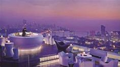 The amazing roof top bar at Four Seasons Mumbai - we had to be there during elections - no alcohol allowed!