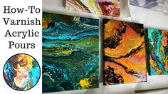How To Varnish Acrylic Pouring with Minwax Polycrylic - YouTube