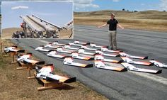 Huge swarms of AI drones are coming: Team sets world record by launching 50 UAVs controlled by just ONE person | The drones 'talked' to each other using Wi-Fi to fly in formation | Eventually, engineers want to create swarms that act on their own | They say they can one day be used in military combat situations [The Future of Drones: http://futuristicnews.com/tag/drone/ Future Military Technologies: http://futuristicnews.com/tag/military/]