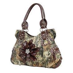 Camo purse with flower Love, Love, Love! :)