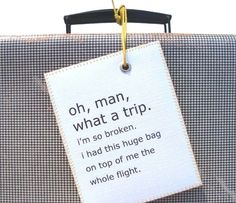 Large personalized Luggage baggage Tag that by CestSuperbeLabels