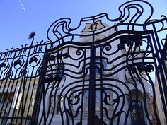 Secession in Budapest - the Körössy Villa. Built by architect Albert Kálmán Körössy for his family in The style of the building is mixture of French-Belgian art noveau and early Jugendstil. Door Furniture, Hungary, Gates, Bugs, Villa, Window, Doors, Building, Beautiful