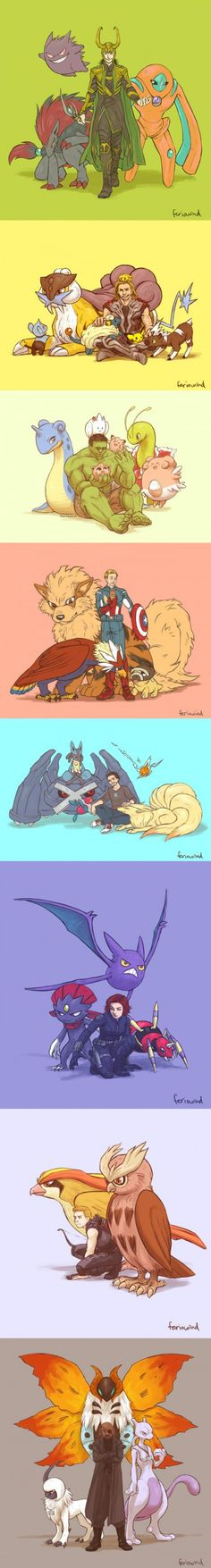 If the Avengers had Pokemon, there a couple of others not pictured here.