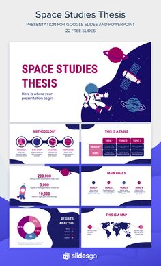 Defend your Thesis on Space Studies with this creative presentation. Download this Google Slides theme and PowerPoint template now, it's free  #Slidesgo #FreepikCompany #freepresentation #freetemplate #presentations #themes #templates #GoogleSlides #PowerPoint #GoogleSlidesThemes #PowerPointTemplate #Space #Thesis #Education #Lesson Business Presentation Templates, Corporate Presentation, Presentation Layout, Education Templates, Powerpoint Design Templates, Free Infographic Templates, Graphic Design Resume, App Design Inspiration, School